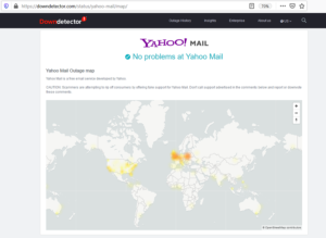 is yahoo mail down